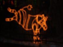 Νύχτα Χριστουγέννων στο ζωολογικό κήπο Στοκ φωτογραφία με δικαίωμα ελεύθερης χρήσης