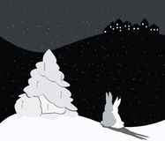 νύχτα Χριστουγέννων διανυσματική απεικόνιση
