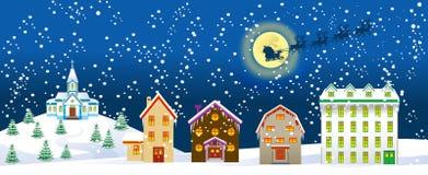 Νύχτα Χριστουγέννων ελεύθερη απεικόνιση δικαιώματος