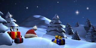 νύχτα Χριστουγέννων Στοκ Φωτογραφία