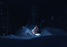 νύχτα 01 βουνών Στοκ φωτογραφία με δικαίωμα ελεύθερης χρήσης