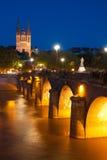Νύχτα Angers Στοκ Εικόνες