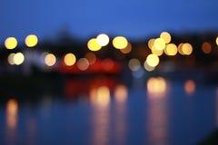 Νύχτα Bokeh στην πόλη Στοκ Φωτογραφίες