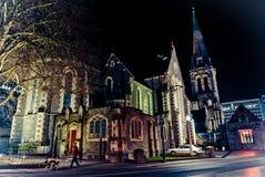 Νύχτα Christchurch Στοκ εικόνα με δικαίωμα ελεύθερης χρήσης