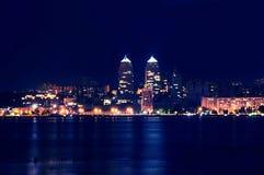 Νύχτα Dnipropetrovsk Στοκ Εικόνες
