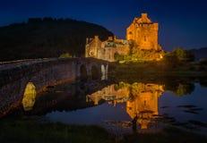Νύχτα Donan Eilean Στοκ Φωτογραφίες
