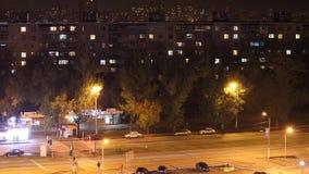 Νύχτα Kharkov Timelaps απόθεμα βίντεο