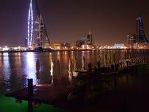 Νύχτα Manama Στοκ Φωτογραφίες