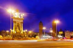 Νύχτα niew Plaza de Espana Στοκ φωτογραφία με δικαίωμα ελεύθερης χρήσης