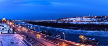 Νύχτα Nizhny Novgorod στοκ εικόνες με δικαίωμα ελεύθερης χρήσης