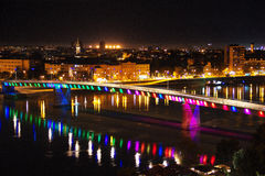 νύχτα Novi Sad Στοκ φωτογραφία με δικαίωμα ελεύθερης χρήσης