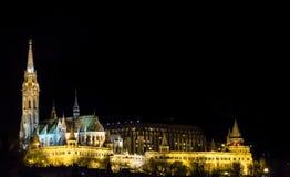 νύχτα s ψαράδων προμαχώνων Στοκ Φωτογραφία