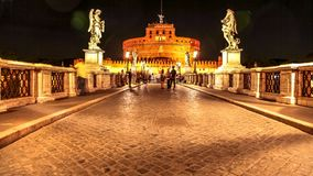 Νύχτα Sant Angelo Castel Στοκ Φωτογραφία