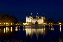 νύχτα schwerin Στοκ φωτογραφία με δικαίωμα ελεύθερης χρήσης