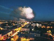 Νύχτα sity Στοκ Εικόνα