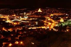 Νύχτα Tbilisi Στοκ Εικόνες