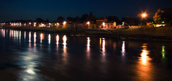 Νύχτα Ticino Borgo Στοκ Φωτογραφίες