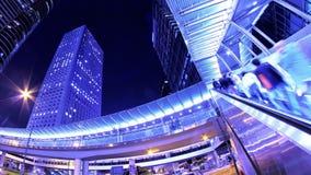 Νύχτα Timelapse πόλεων. απόθεμα βίντεο