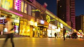 Νύχτα timelapse του κέντρου πόλεων της Μόσχας απόθεμα βίντεο