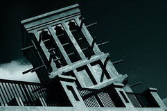 νύχτα windcatcher στοκ φωτογραφίες