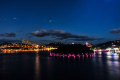 Νύχτα Yeosu Στοκ φωτογραφίες με δικαίωμα ελεύθερης χρήσης