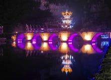 νύχτα zhenjiang Στοκ φωτογραφία με δικαίωμα ελεύθερης χρήσης