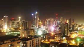 Νύχτες πόλεων του Παναμά στοκ φωτογραφία με δικαίωμα ελεύθερης χρήσης