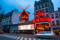 Νύχτες του ρουζ Moulin Στοκ Εικόνες