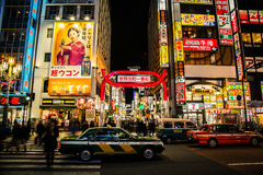 Νύχτες το //Ιαπωνία του Τόκιο Στοκ φωτογραφίες με δικαίωμα ελεύθερης χρήσης