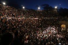 Νύχτες Jerash Στοκ εικόνα με δικαίωμα ελεύθερης χρήσης