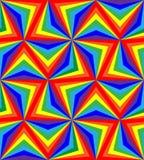 ν Άνευ ραφής λωρίδες ουράνιων τόξων γεωμετρικό πρότυπο Κατάλληλος για το κλωστοϋφαντουργικό προϊόν, το ύφασμα και τη συσκευασία Στοκ Φωτογραφία