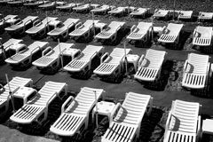 ξάπλωμα εδρών Στοκ φωτογραφίες με δικαίωμα ελεύθερης χρήσης