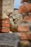 Ξάπλωμα Budda του ναού Ayutthaya, Ταϊλάνδη Phutthaisawan Στοκ εικόνα με δικαίωμα ελεύθερης χρήσης