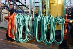 Ξάρτια ενός παλαιού πλέοντας σκάφους Στοκ Εικόνες