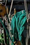 Ξάρτια ενός πλέοντας σκάφους Στοκ Εικόνα