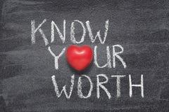 Ξέρτε την άξια καρδιά σας στοκ εικόνα