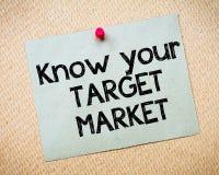Ξέρτε την αγορά στόχων σας στοκ εικόνα