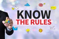 Ξέρτε τους κανόνες στοκ φωτογραφία