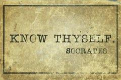 Ξέρτε thyself στοκ φωτογραφίες με δικαίωμα ελεύθερης χρήσης