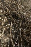 ξέσματα μετάλλων που προετοιμάζονται για την ανακύκλωση στοκ εικόνα