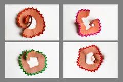 Ξέσματα ομάδας από τα μολύβια Στοκ εικόνα με δικαίωμα ελεύθερης χρήσης