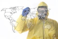 Ξέσπασμα Ebola στοκ φωτογραφία με δικαίωμα ελεύθερης χρήσης