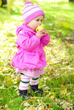 ξέφωτο κοριτσιών μήλων λίγα στοκ φωτογραφία με δικαίωμα ελεύθερης χρήσης
