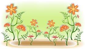 ξέφωτο λουλουδιών Ελεύθερη απεικόνιση δικαιώματος