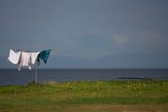Ξήρανση πλυντηρίων Στοκ εικόνα με δικαίωμα ελεύθερης χρήσης