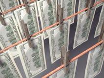 Ξήρανση χρημάτων πλυντηρίων Στοκ φωτογραφία με δικαίωμα ελεύθερης χρήσης
