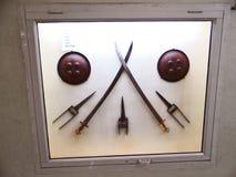 Ξίφη στο ιστορικό μουσείο σε Jhansi στοκ φωτογραφίες