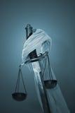 Ξίφος κλίμακας blindfold Στοκ Φωτογραφίες