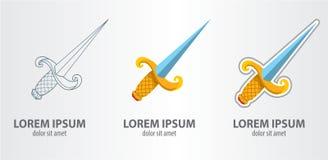 Ξίφος λογότυπων Στοκ φωτογραφία με δικαίωμα ελεύθερης χρήσης