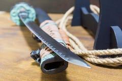 Ξίφος Σαμουράι Katana Τιμή του Σαμουράι Στοκ φωτογραφία με δικαίωμα ελεύθερης χρήσης